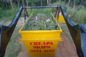 Cheapa Skips Skip Bin Filled With Green Waste